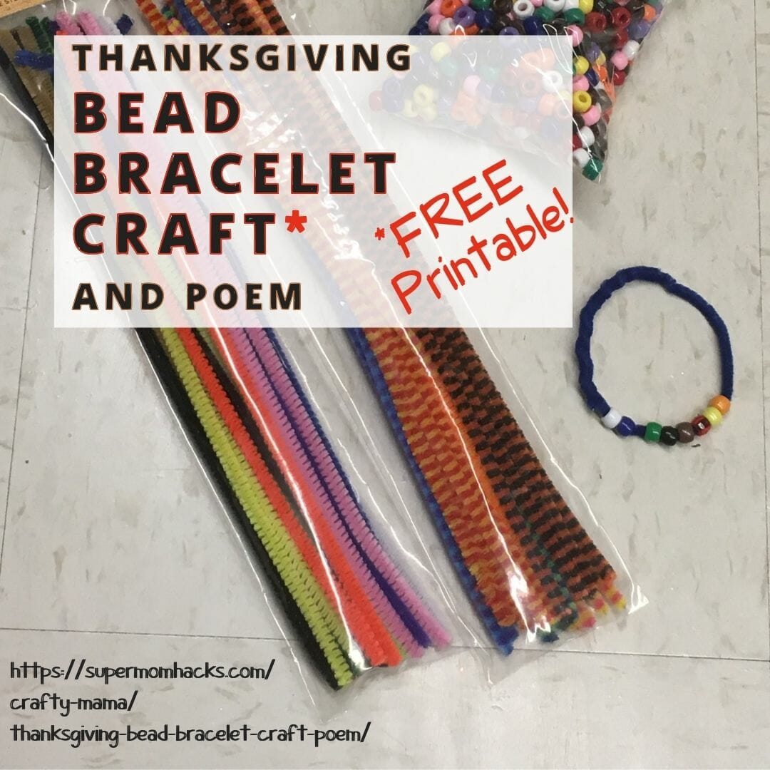 This Thanksgiving story bracelet is a great way to teach your kids the history of Thanksgiving, while practicing colors and motor skills!