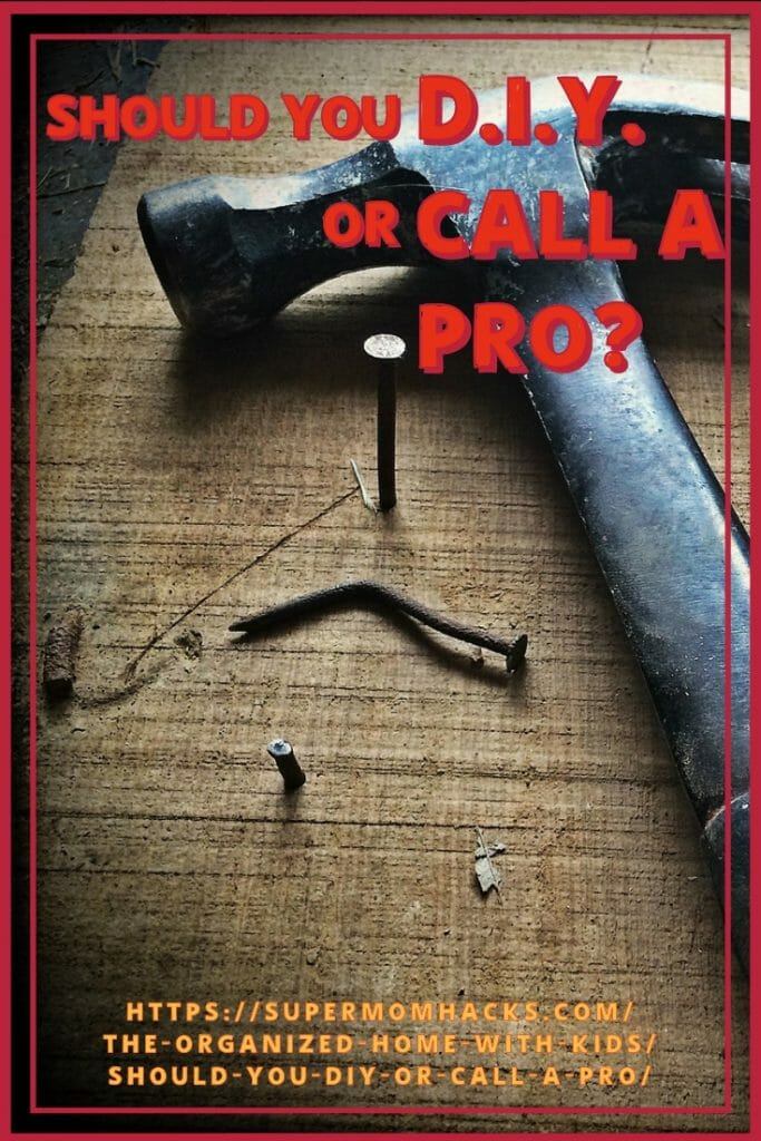Sometimes it's tempting to try to cut corners on home projects by DIYing. But knowing if you should DIY or call a pro will save you more in the long run.