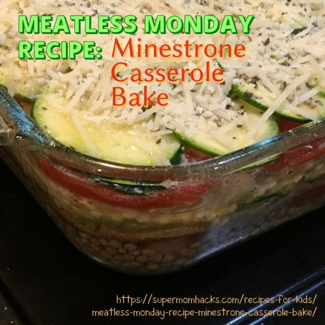 Whether you're looking for a new Meatless Monday recipe idea or just some winter warm-up comfort food, this Minestrone Casserole Bake is perfectly yummy.