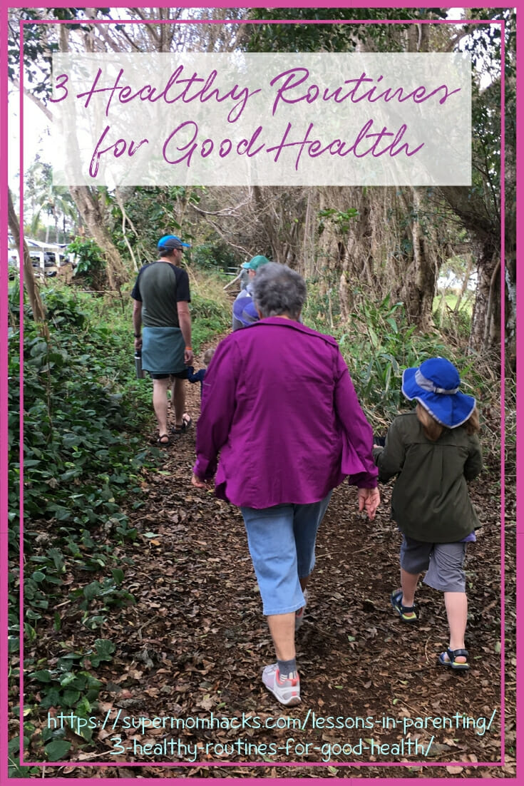 Living long (and well) enough to play with your grandkids begins with small, simple daily steps. Start with these 3 healthy routines for good health.