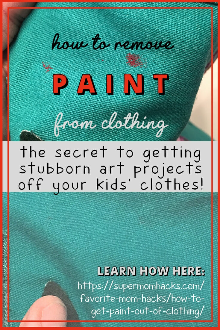One of the toughest mama laundry dilemmas I've found is how to get paint out of clothing. Read on to learn how I've solved this art-project challenge.