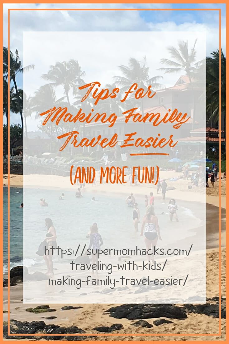 Traveling as a large family or extended family unit can be tough. These hacks for making family travel easier will also make it more fun and stress-free!