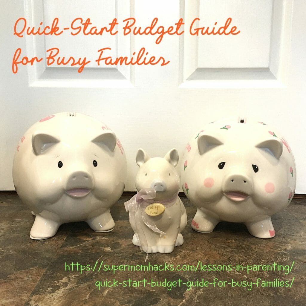 How's your family budget looking? (Wait, what's that?) Need some help? This quick-start budget guide for busy families has what you need to get started.