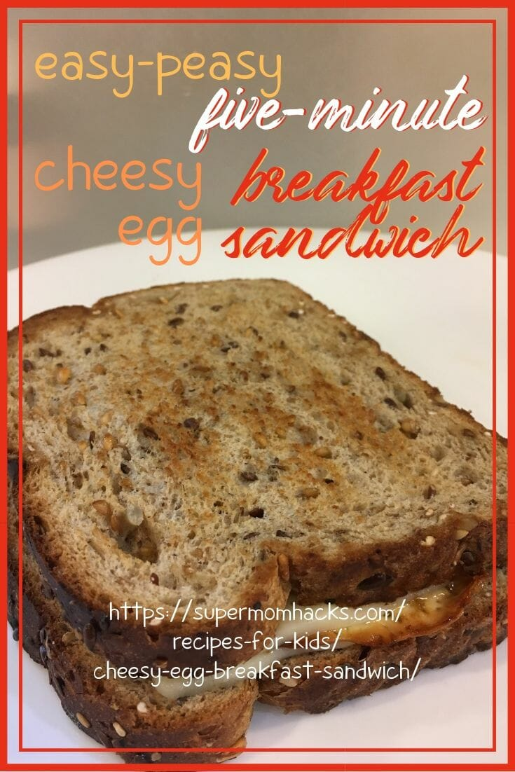 Need a quick, satisfying breakfast that will fuel your kids all morning? Then give this super-simple cheesy egg breakfast sandwich a try!