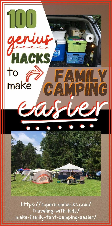 100 Genius Hacks to Make Family Tent Camping Easier