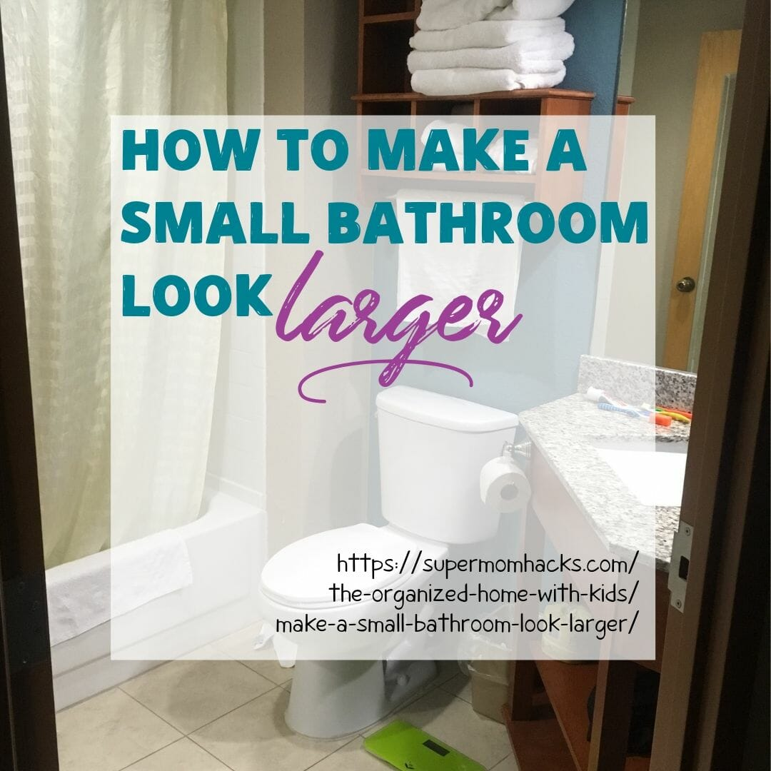 Is your tiny bathroom causing you claustrophobic panic attacks every time you step into it? Here are 4 easy hacks to make your small bathroom look larger.