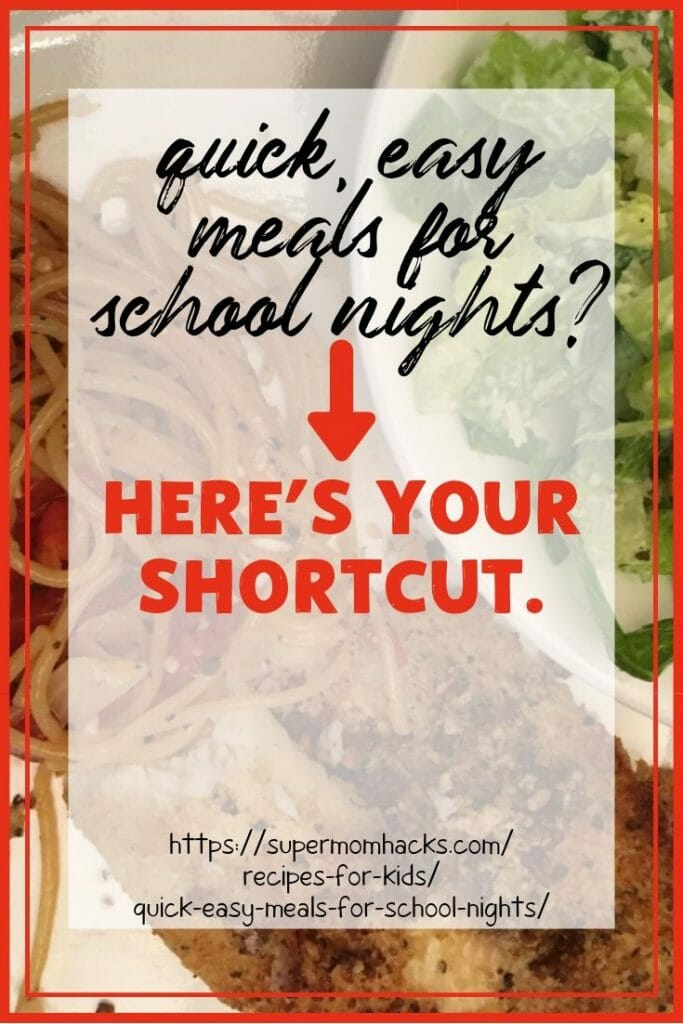 What parent doesn't need quick, easy meals for school nights? Want a shortcut? Then your family NEEDS my new secret weapon!
