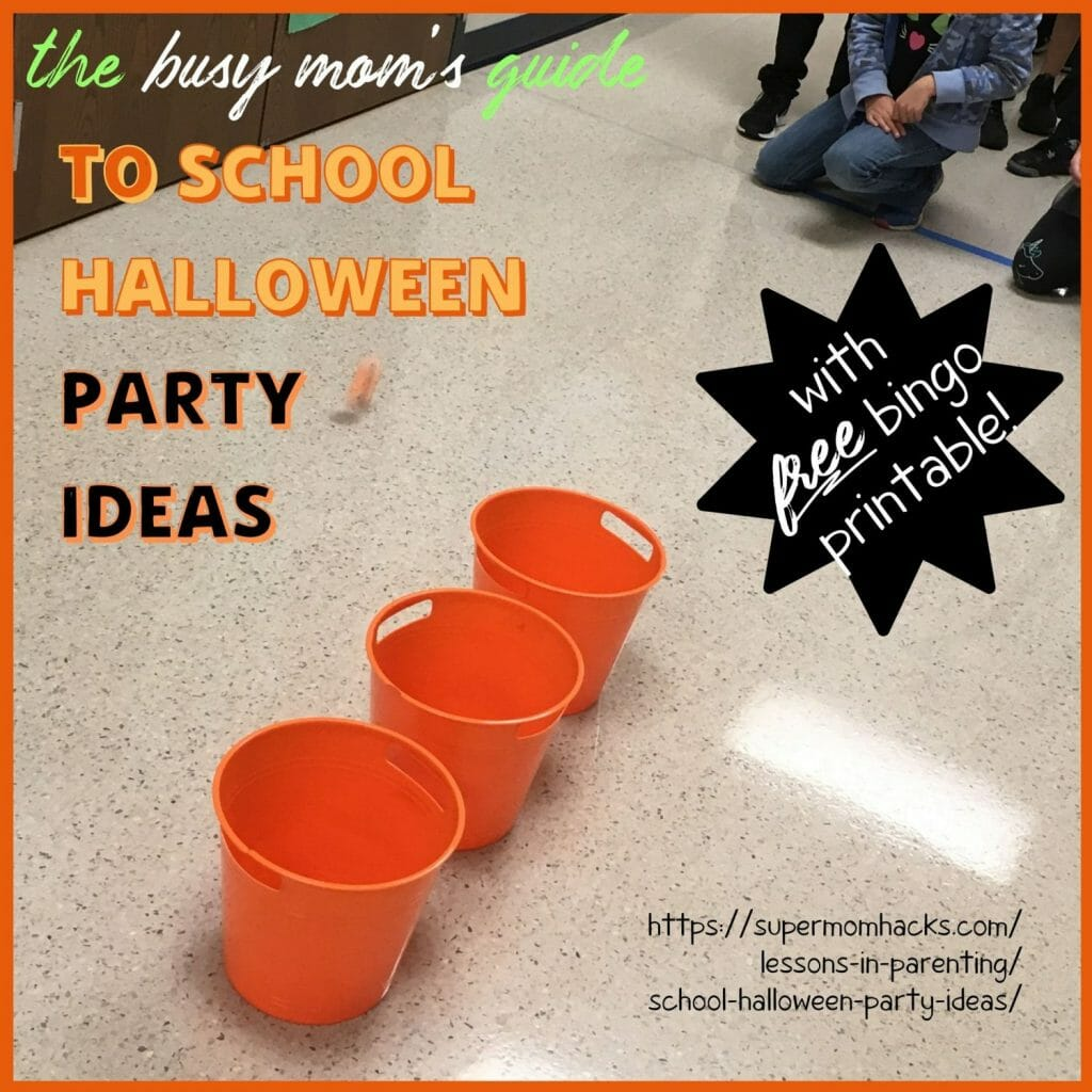 Whether it's your first or your 10th time as class parent, you NEED these school Halloween party ideas. Includes FREE Fall Bingo printable!