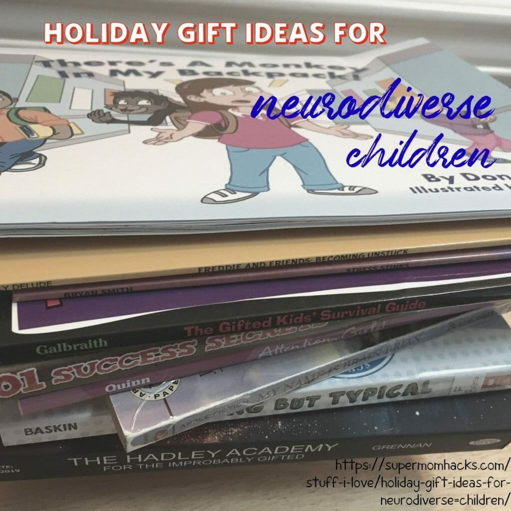 Got kiddo(s) with a learning difference or two? These holiday gift ideas for neurodiverse children are kid- AND Mama-approved as worth reading.