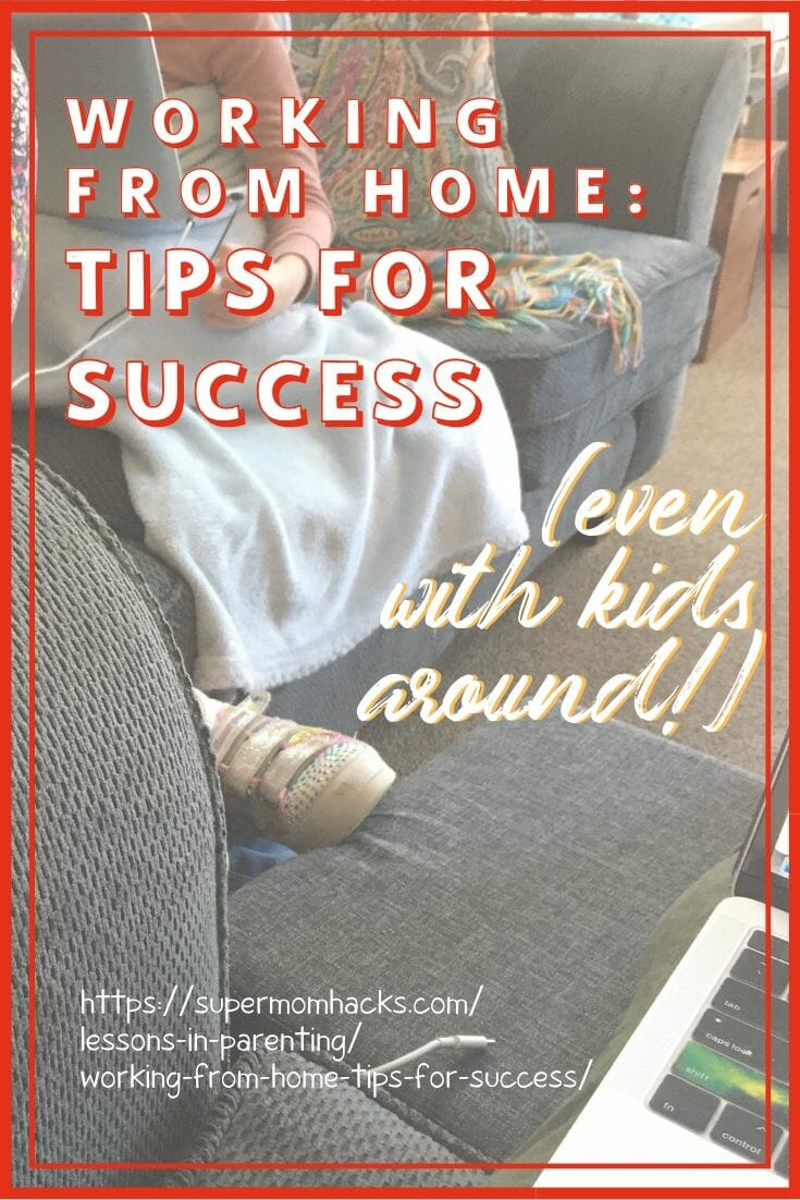 Trying to work from home while homeschooling your kids? These productivity tips for working from home with kids around will help you survive AND succeed.