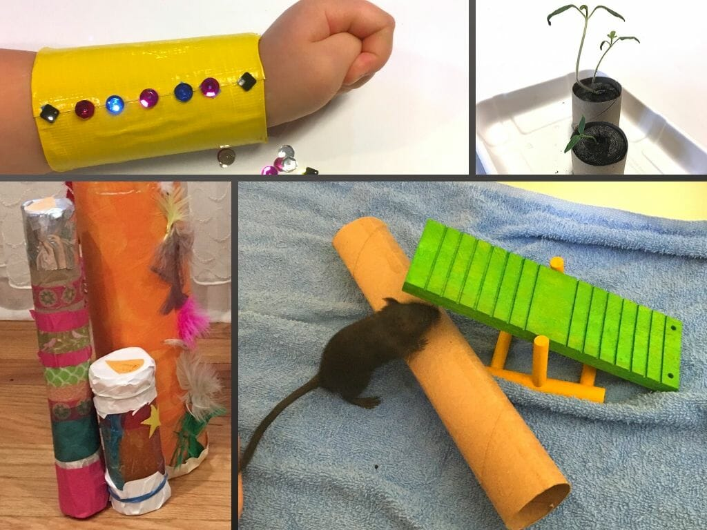 Looking for fun activities and easy crafts to celebrate Earth Day? These recycled Earth Day projects use things you have at home, like toilet paper rolls.