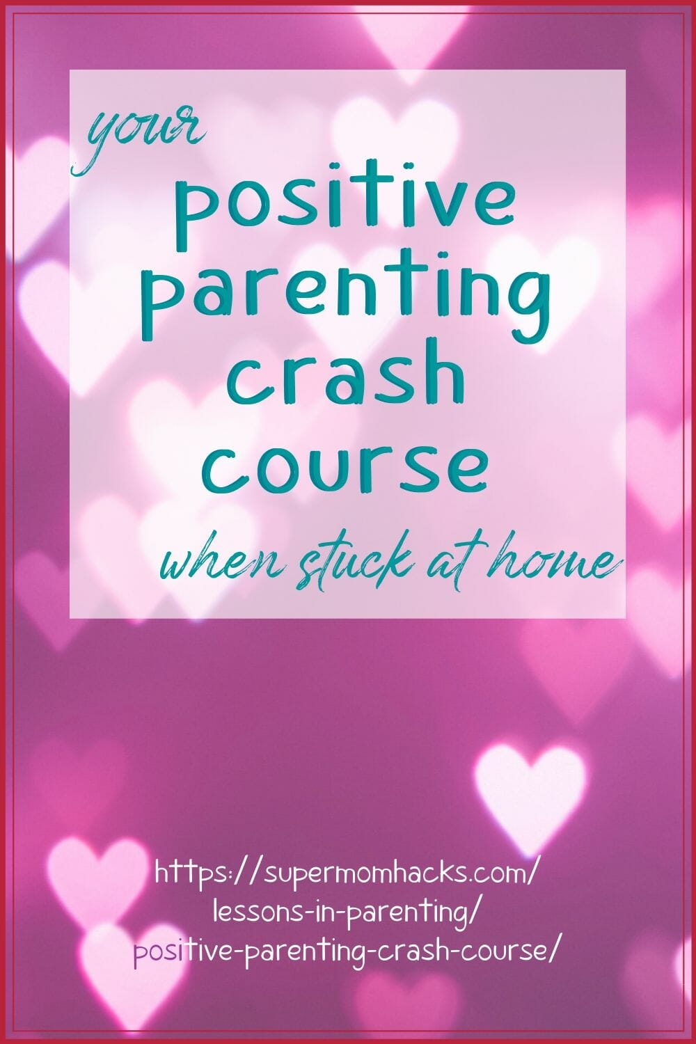 Have you tried positive parenting before? It's really helped our kids cope while stuck at home. If not, here's your positive parenting crash course.
