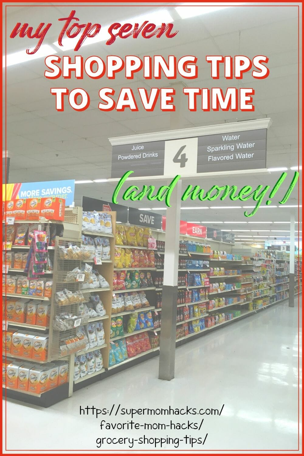Need some tried-and-true supermarket shopping hacks? These grocery shopping tips help busy parents save both time AND money on every shopping trip!