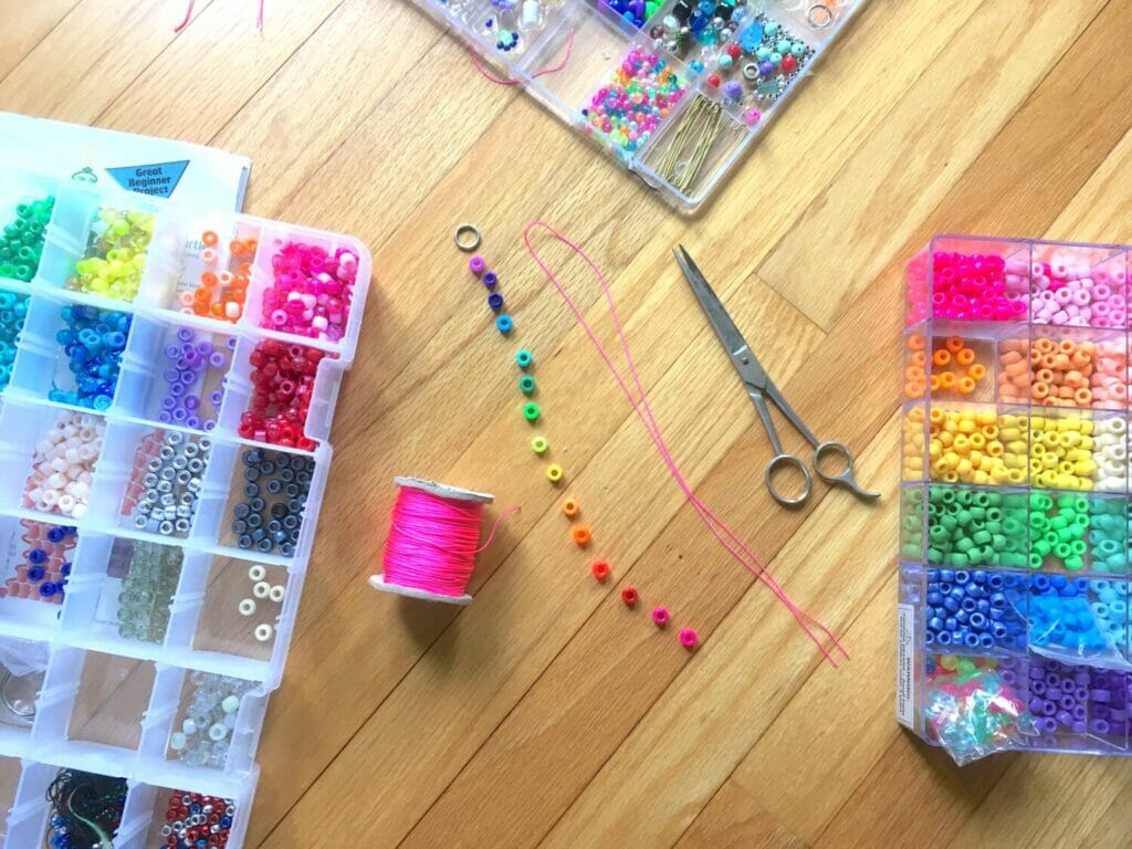 DIY fidget toys are fun to make, and will help kids stay calm and focused when school starts. These cute beaded snakes are my kids' fave, and easy to make.