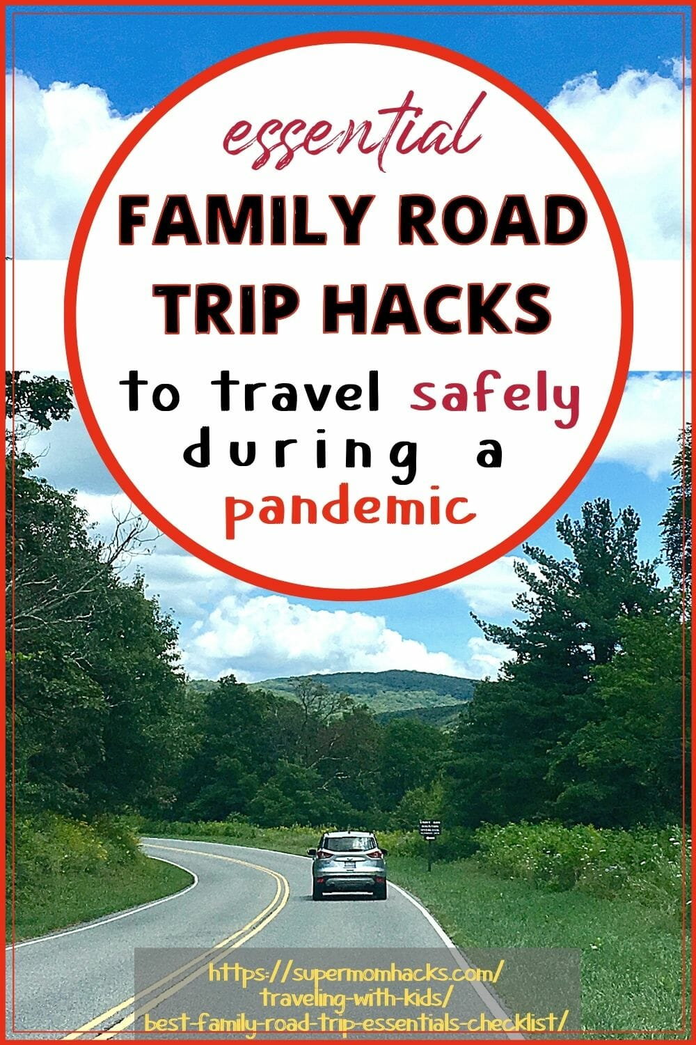 Planning a family road trip? These family road trip essentials and road trip hacks will ensure a smooth trip in these uncertain times. Essential Family Road Trip Hacks to Travel Safely - SuperMomHacks | family road trip essentials | family road trip hacks | road trip pandemic | how to road trip during a pandemic | road trip meal hacks | road trip ideas for kids | best road trip hacks | road trip hacks for kids | road trip safety | pandemic travel safety | family road trip essentials checklist